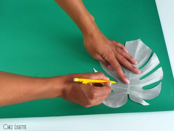 Chez Lisette DIY déco tropicale en papier contours2