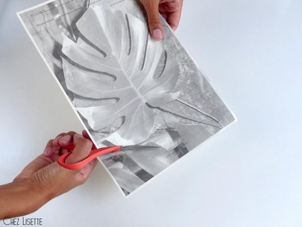 Chez Lisette DIY déco tropicale en papier découper2