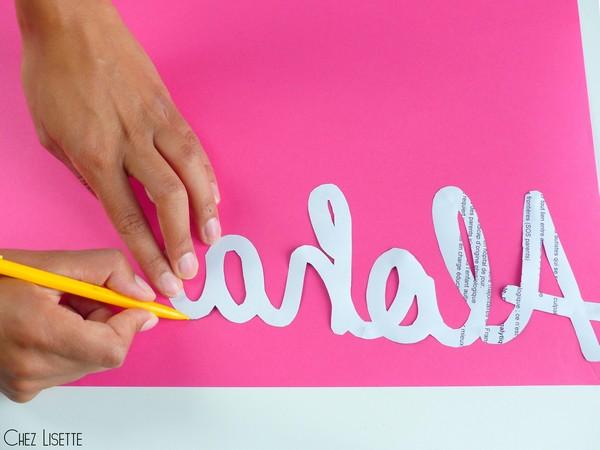 Chez Lisette DIY déco tropicale en papier contours