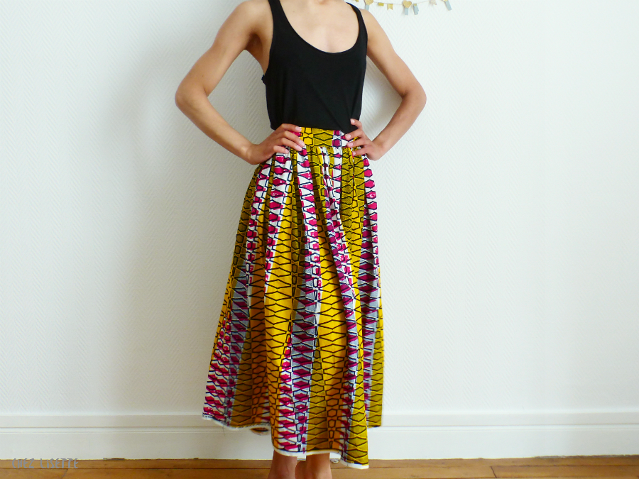 DIY jupe en wax Voir midi à sa porte DIY, couture et vie