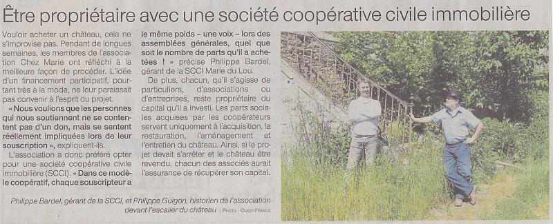 25/05/2020 - Article de Ouest France