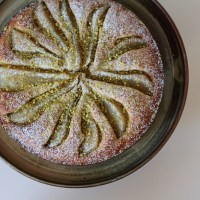 The Month of Cake: Pistachio Cake with Vanilla Pears