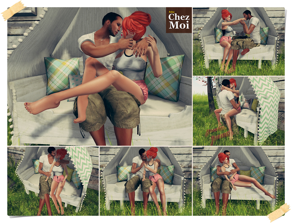 Canopy Bench Couple Poses CHEZ MOI