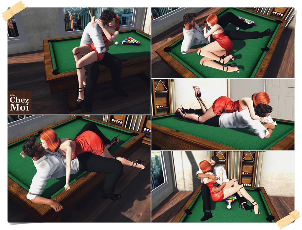 Billiard Classic Couple Poses CHEZ MOI