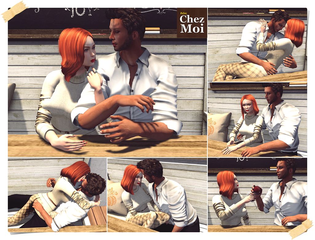 Industrial Bench Couple Poses CHEZ MOI
