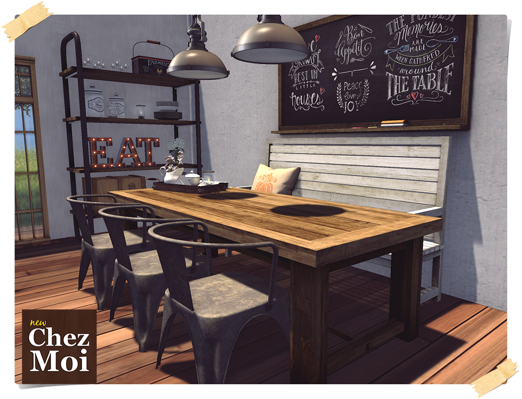 Industrial Dining Room CHEZ MOI