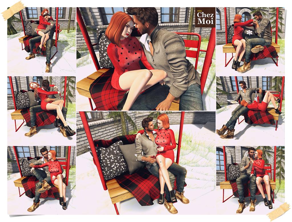 Cozy Chair Lift Couple Poses CHEZ MOI