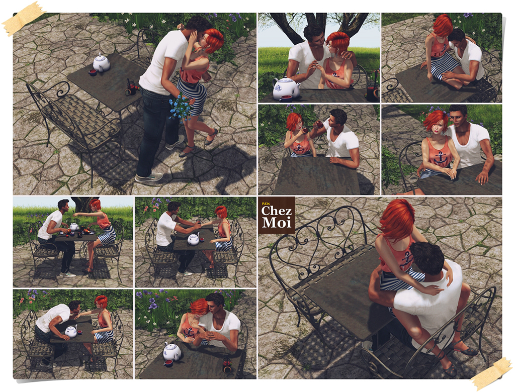 Heart Patio Set Couple Poses CHEZ MOI