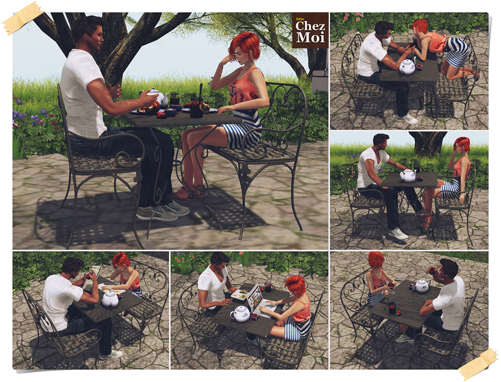 Heart Patio Set Single Poses CHEZ MOI