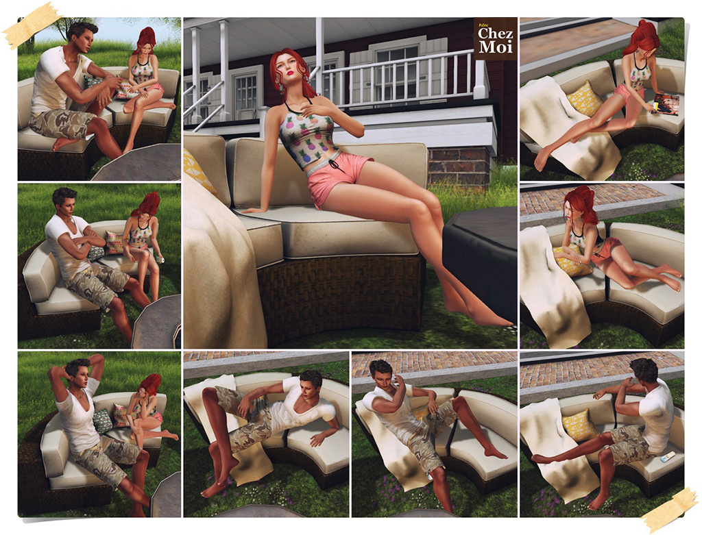 Passadena Patio Set Single Poses CHEZ MOI