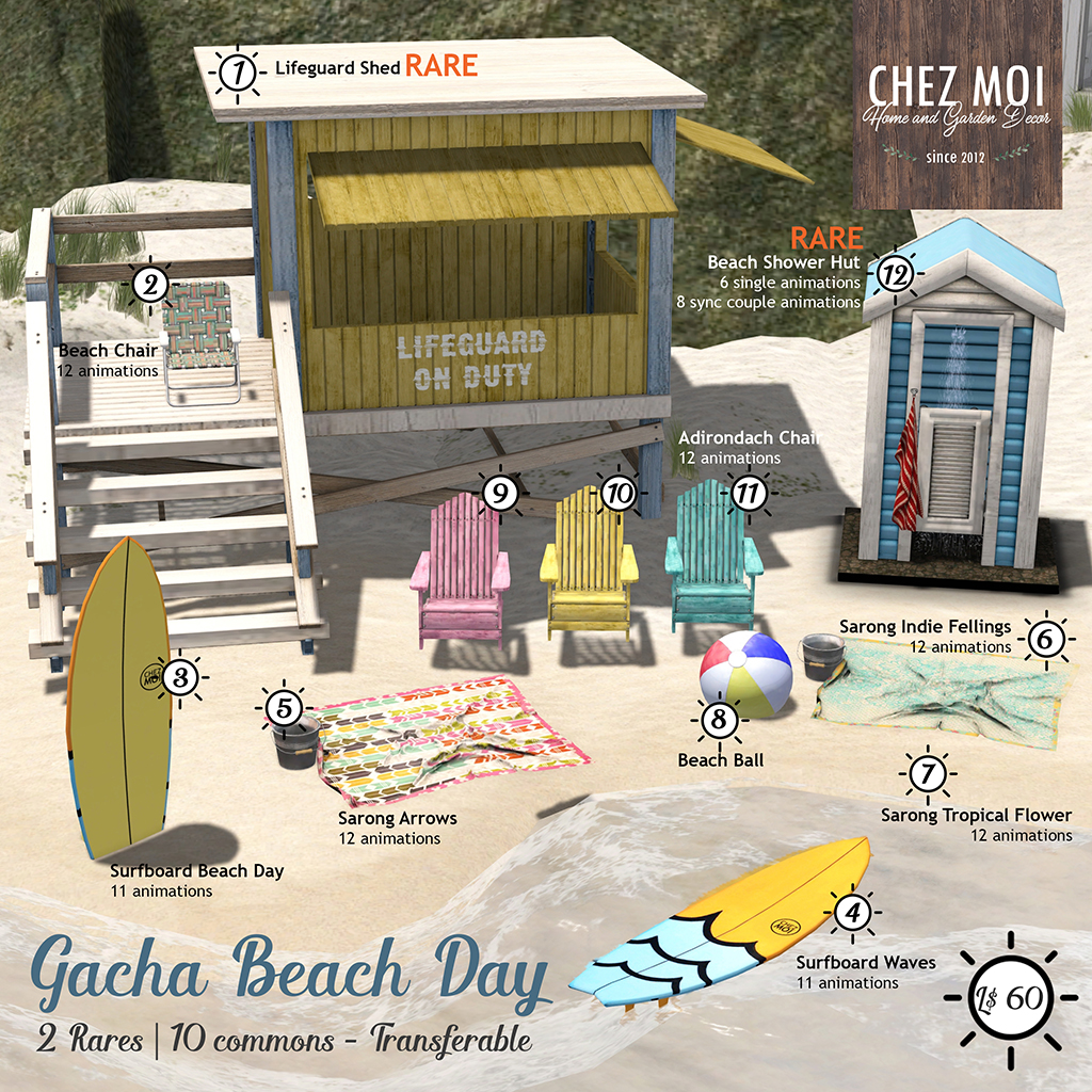 Gacha Key Beach Day CHEZ MOI