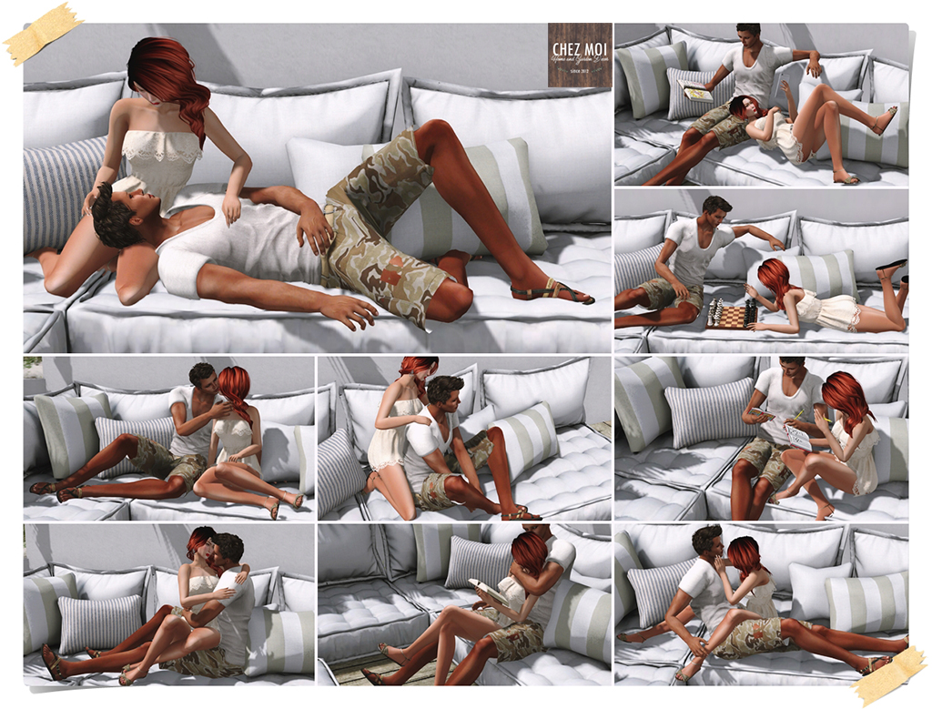 Santorini Lounge Couple Poses CHEZ MOI