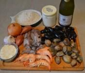 rissoto aux crevettes et palourdes