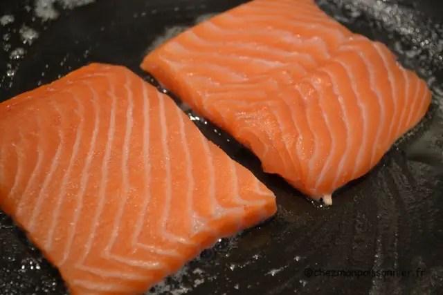 Escalopes de saumon à la poele