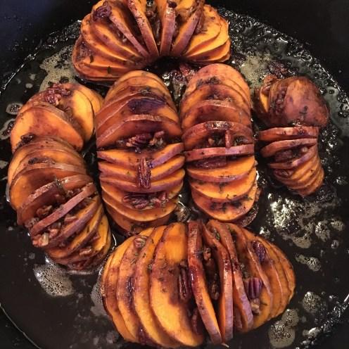 Sweet potatoes after baking.