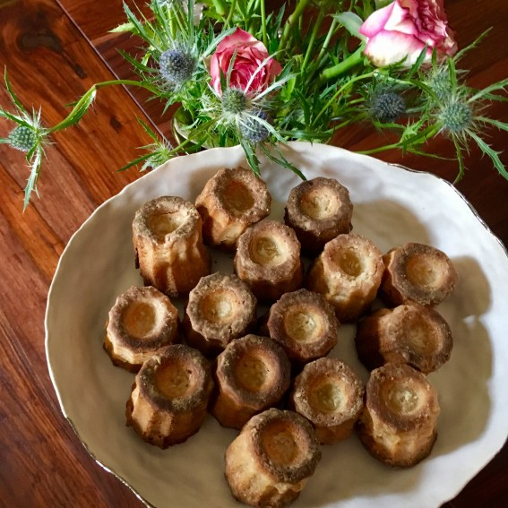 The exterior of your cannelés will be golden brown and a bit chewy and crispy.