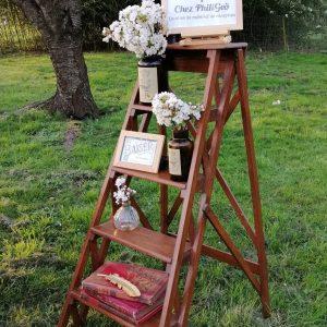 escabeau de peintre en bois location vintage décorations mariage