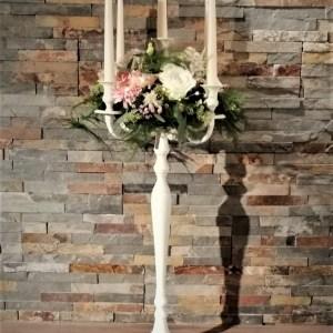 Location chandelier blanc 80 cm centre de table mariage Tours 37 indre et loire