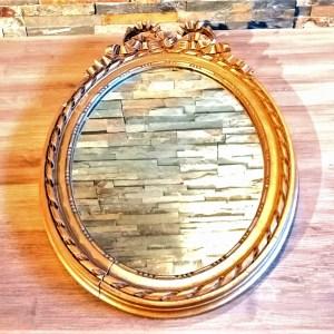 Miroir ovale doré décoration pour mariage Tours 37 indre et loire
