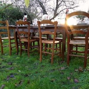 Location de chaises dépareillées bois Tours 37 indre et loire petit prix région centre