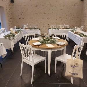 Table ronde ambulante table des mariés location mobilier et décoration atypique pour événement Tours 37 indre et loire