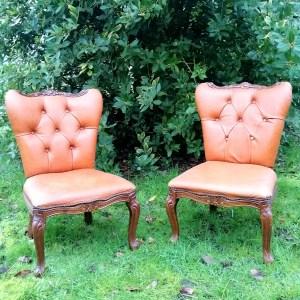 Location de petit fauteuil baroque cuir décoration mobilier Tours 37 indre et loire Loir et cher 41 Blois Evénements mariage décoration décorateur