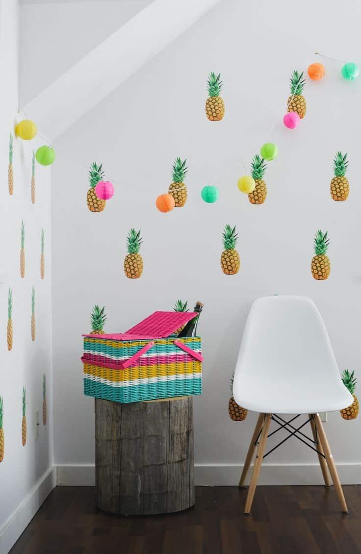3e1ca14dd5414d4ae0af3bf53b1747dc - L'ananas se fond dans la déco sur Pinterest