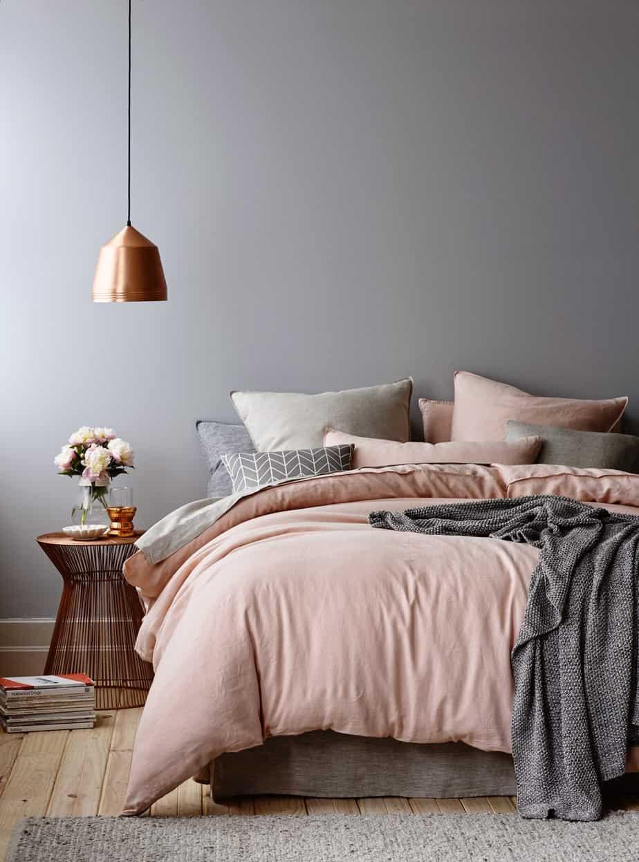 Symphonie en rose et gris - Pinterest : une chambre cocooning pour l'hiver
