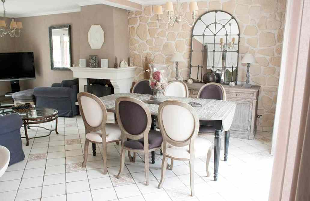 la salle a manger salon de veronique - Visite du salon romantique de Véronique