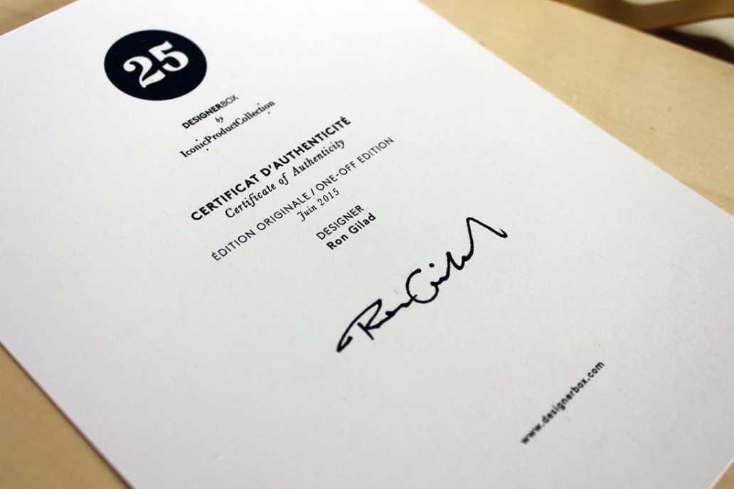 le certificat dauthenticité de la designer box - J'ai testé pour vous la Designer box
