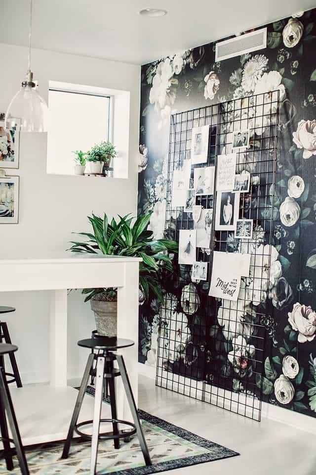 des photos et du papier peint pour le coin repas - Comment bien réussir sa salle à manger