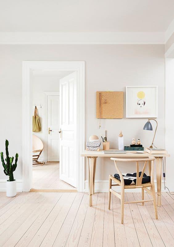 un bureau dans une petite piece - Pinterest : installer un bureau dans un petit espace