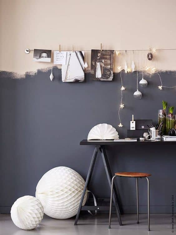 half painted wall decor - Astuce : comment s'organiser pour écrire sur un blog