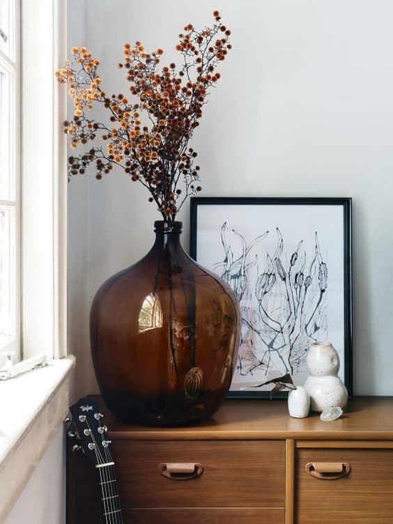 un bouquet de fleurs sechees modernes - Les fleurs s'invitent dans la décoration autour d'une inspiration