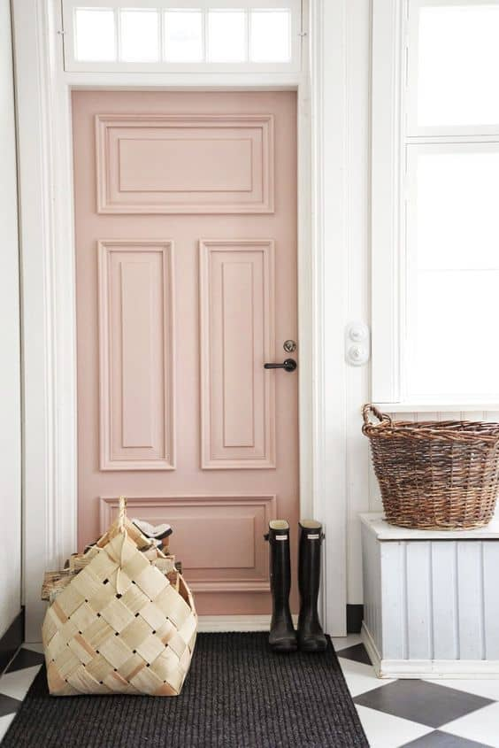 porte entree rose