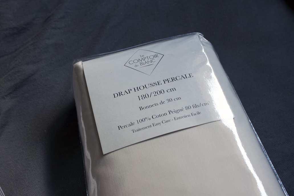 drap housse le comptoir du blanc - J'ai testé pour vous le linge de lit blanc avec La Compagnie du Blanc