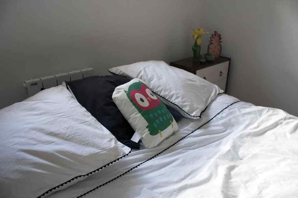 zoom oreiller linge de lit blanc - J'ai testé pour vous le linge de lit blanc avec La Compagnie du Blanc