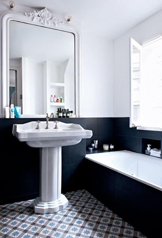salle de bain carrelage noir - Noir : comment bien intégrer cette couleur à sa décoration