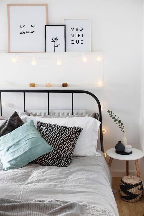 guirlande lumineuse chambre deco pastel - 9 façons de mettre en valeur la déco de la chambre