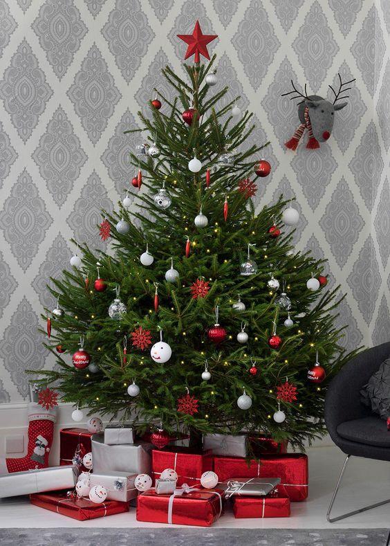 un sapin de noel traditionnel - Le sapin de Noël :  comment réussir à le décorer ?