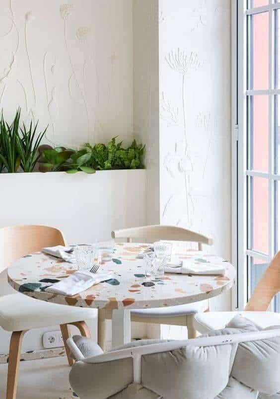 stickers terrazzo salle a manger - La tendance terrazzo s'invite dans toute la maison