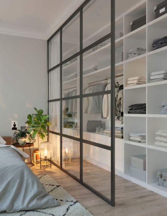 "Un dressing avec verriere - Dressing : transformer une pièce en ""Walk-in closet"""