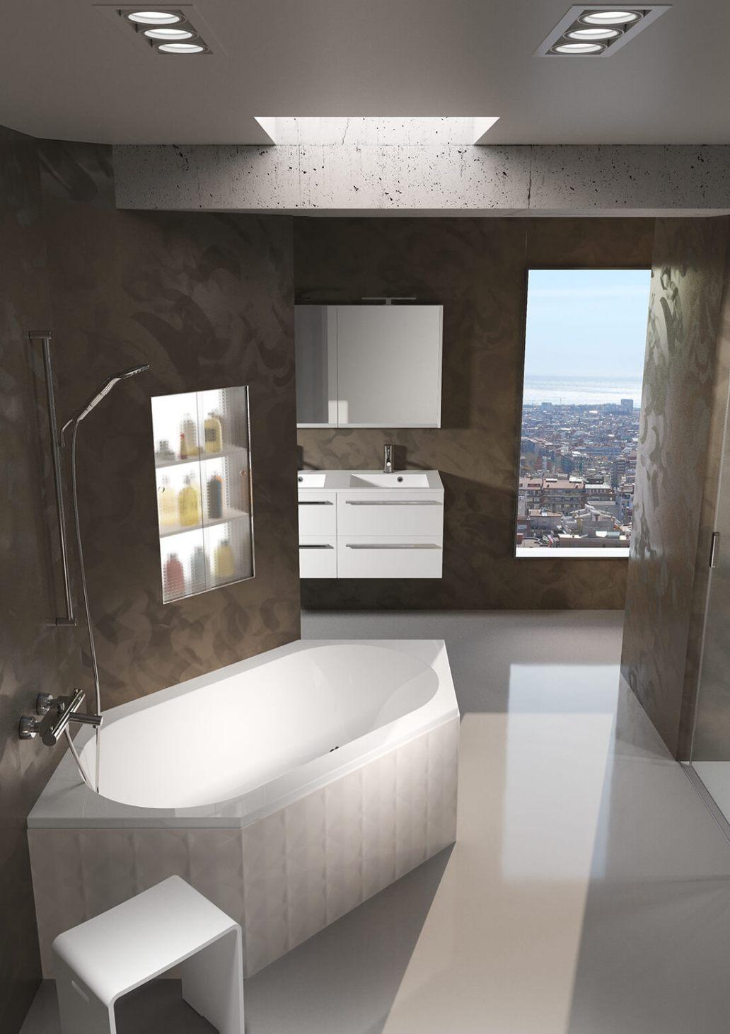Baignoire dAngle Riho Kansas - Quelle baignoire pour une grande salle de bains