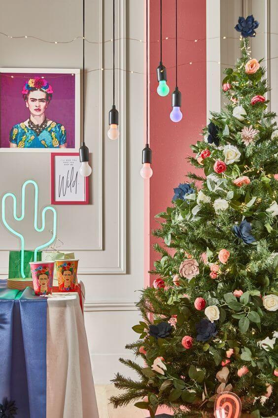 tendance déco pour Noel neon - Les 8 tendance déco pour Noël 2019