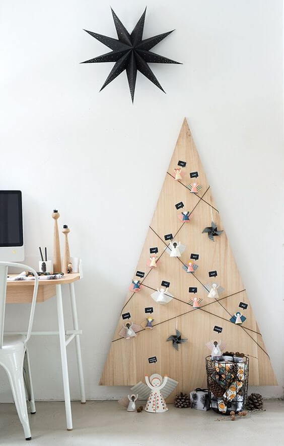 idées pour fabriquer le sapin avec une planche en bois  - 10 idées pour fabriquer le sapin de Noël