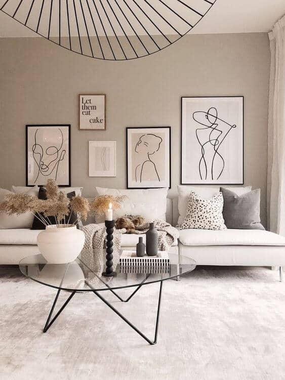 comment décorer le mur du salon  - Comment décorer le mur du salon ?