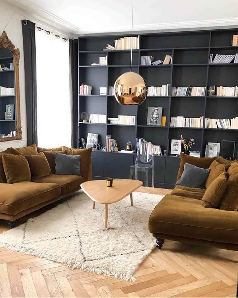 décorer le mur du salon avec une bibliothèque - Comment décorer le mur du salon ?