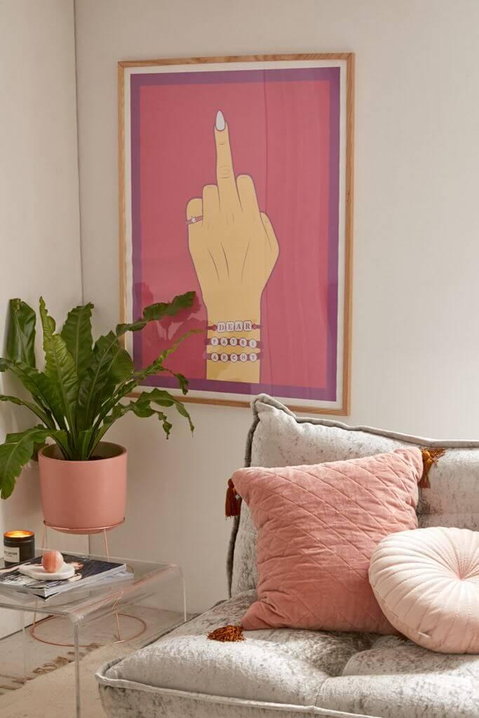 affiche engagée pour une décoration féministe  - Déco féministe : on craque pour le Girl Power
