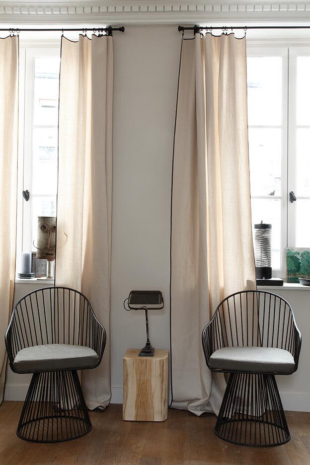 rideaux graphides pour un salon design - Quels rideaux installer dans un salon ?