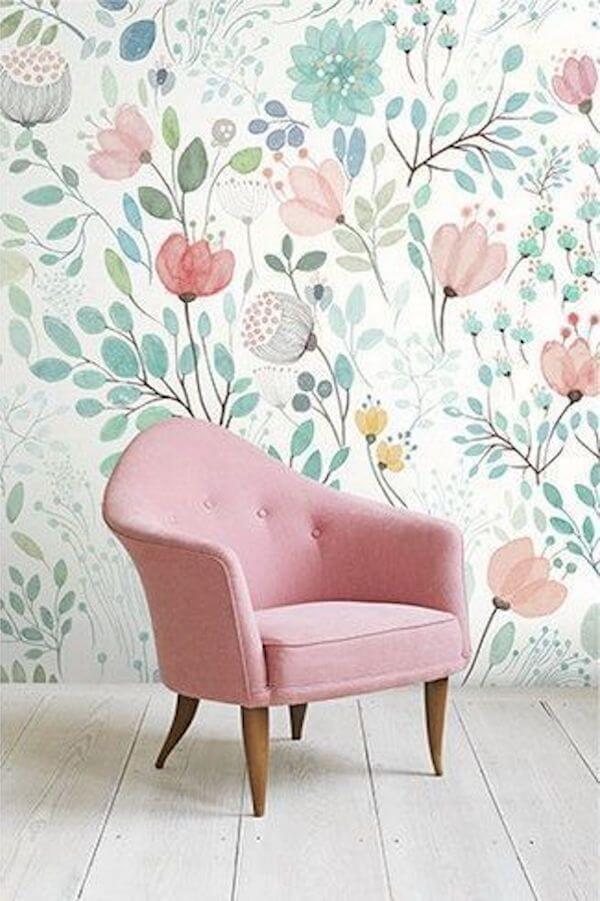 papier peint aux couleurs pastel idéal pour une deco fleurie - 5 façons d'utiliser les couleurs pastel en déco
